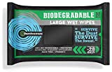 Surviveware Biodegradable Wet Wipes Large Pack - Rinse Free Shower...