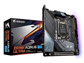 GIGABYTE Z590I AORUS Ultra  LGA 1200/Intel Z590/Mini-ITX/Dual M.2/PCIe 4.0/USB 3.2 Gen2X2 Type-C/Intel WiFi 6/Intel i225V 2.5GbE/ Gaming Motherboard