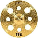 "Meinl 16"" Trash Crash Cymbal with Holes – HCS Traditional Finish Brass for Drum Set, Made In Germany, 2-YEAR WARRANTY (HCS16TRC)"