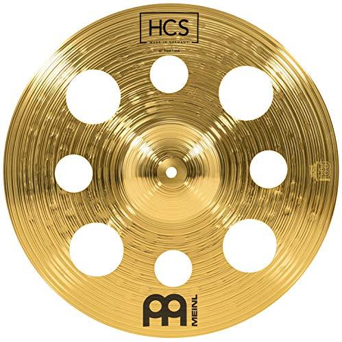 Meinl Cymbals HCS Trash Crash Becken 16 Zoll mit Löchern – für Schlagzeug – Messing, traditionelles Finish, HCS16TRC