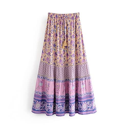 chushi Vestidos de Mujer Chic Moda Hippie Mujer Playa Bohemio Púrpura Purple...