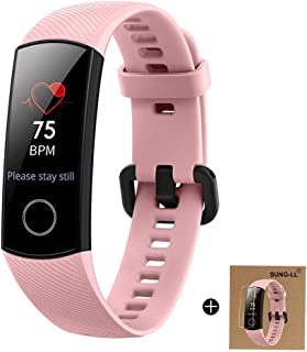 HUAWEI Honor Band 4 6-Axis Inertial Heart Rate Monitor Infrared Light Wear Detection Sensor Full Touch AMOLED Color Screen Home Button All-in-One Activity Tracker 5ATM Waterproof