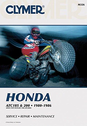 Clymer Honda ATC 185 & 200, 1980-1986: Service, Repair, Maintenance (Clymer All-Terrain Vehicles)