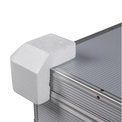 grohsartig | Styroporecken Verpackungsecken | Größe 95x95x95x30mm | VPE 20 Stück