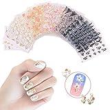 Nicedeco 50 Feuilles (Plus de 1500 pcs) Mix Couleur 3D Design Auto-adhésif Nail Art Sticker Autocollant à Ongles bricolage