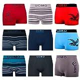LK - Lot de 5/10 - Boxers Homme - rétro Shorts - pour sous-vêtements en Microfibre...