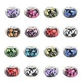 NBEADS 100 Pezzi di Perline Europee con Foro Grande, 5 mm (Foro) Perline Acriliche per Gioielli con Anima in Metallo per Braccialetti Fai da Te Collana Artigianato Fabbricazione