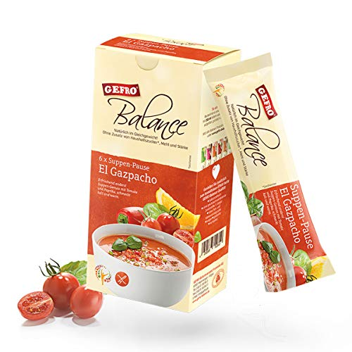 GEFRO Balance Suppen-Pause El Gazpacho: 6 Portionsbeutel, warme Mittagspaue & Mahlzeit