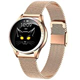 MBHB Unparalleled Exquisite Smart Watch, Dynamic Watch Face Fitness Tracker, IP68 Waterproof Heart Rate Sleep Monitor for Women, Gold