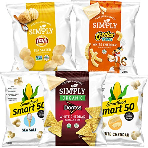Simply Cheetos Puffs White Cheddar Cheese Flavored Snacks,0.875 Ounce (Pack of 36)