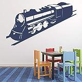Kreative Eisenbahn Zug Wandaufkleber Transporter Tapete Vinyl Fenster Aufkleber Kinderzimmer...