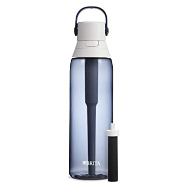 Brita Hard Sided Premium Filtering Water Bottle, 26 Ounce, Night Sky