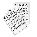 TOYANDONA 60 Piezas de Juegos de Bingo Juego de Papeles de Bingo Número de Tarjetas de Juego Familiar Clásico Juego de Cartas de Actividad de Aprendizaje Tarjetas de Juego Intelectual para