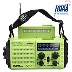 Portable Emergency Solar Hand Crank Radio, 5-way Powered AM/FM/SW/NOAA...