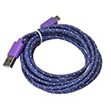 Yoyorule 3M/10FT Micro USB Charger Sync Data Cable Cord for Samsung,Sony,Moto,HTC,Nokia Cell Phone (Purple)