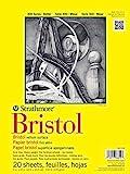 Strathmore 300 Series Bristol Vellum Pad, 9'x12', Tape Bound 20 Sheets