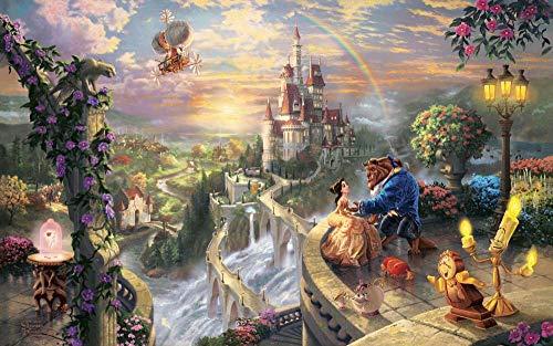 gusbyy Rompecabezas de Madera para Adultos de 1000 Piezas Puzzle La Bella y la Bestia Educar a los niños Juegos de Juguetes para niños y niñas
