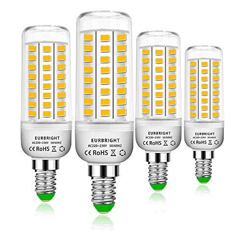 E14 LED Warmweiss Lampen 10W LED E14 Mais Birne 3000K 1300LM Entspricht Glühbirnen 60W Nicht Dimmbar Energiesparlampe Edison-Schraube Leuchtmittel für Kronleuchte Wandlampe 4er Pack (Warmweiß)