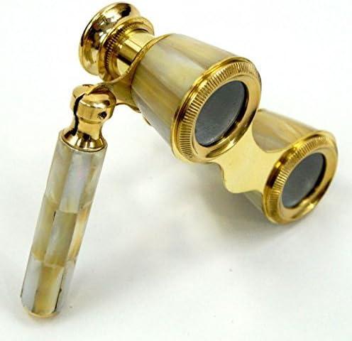 Ranking TOP8 NAUTICALMART Mother of Sale price Pearl Binoculars Brass Golden Opera