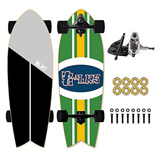 Carver Skateboard Monopatin Skateboard Patinetas Profesionales Skate Board Principiante Longboard Cruiser Surfskate Cepillo Calle Monopatín Surfskate 30'' Tabla Surf for Principiantes CX4 Puente,A