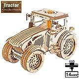 GXQDL-01 3D Wooden Puzzle Jigsaw, 392Pcs Traktor Model Kits-Geburtstags-Geschenke for Kinder und...