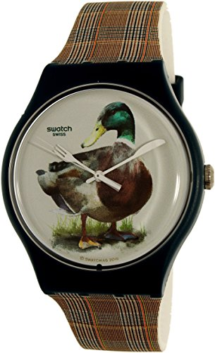 Swatch hombre magies D 'hiver suon118Multi vestido de reloj de cuarzo de silicona Swiss