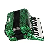 Dilwe Acordeón de Piano, Madera de Arce 22 Teclado 8 Bajo Acordeón Instrumento Musical...