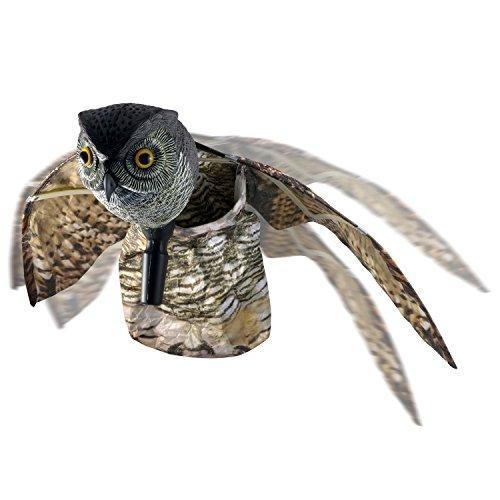 Skycabin Naturale Spaventapasseri Fake Gufo Decoy Deterrant di Uccello Contro Piccioni e Altri Volatili Repellente Antiuccelli Pest Control Garden Uccello Repeller