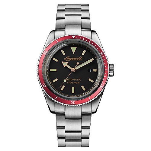 Ingersoll Scovill Mens Analog Automatic Watch with Stainless Steel Bracelet I05004