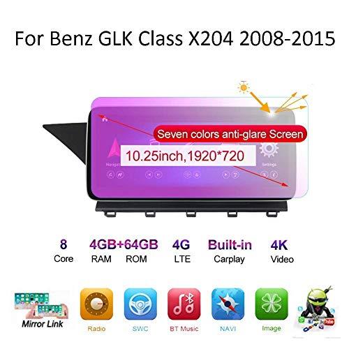 Android Auto Stereo Radio Double Din Navi Kompatibel mit Benz GLK Klasse X204 2008-2015 GPS Navigation Touchscreen Multimedia Player Videoempfänger mit 4G DSP Carplay