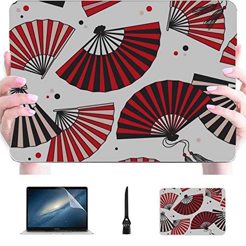 15inch MacBook Pro Case Traditional Folding Fan Plastic Hard Shell Compatible Mac Air 13' Pro 13'/16' Laptop Hard Shell Case Protective Cover for MacBook 2016-2020 Version