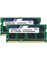 Timetec Hynix IC 16GB(2x8GB) ノートPC用メモリ DDR3L 1600 MHz PC3 12800 1.35v 204 Pin SODIMM Laptop memory upgrade 永久保証 (16GB(2x8GB))