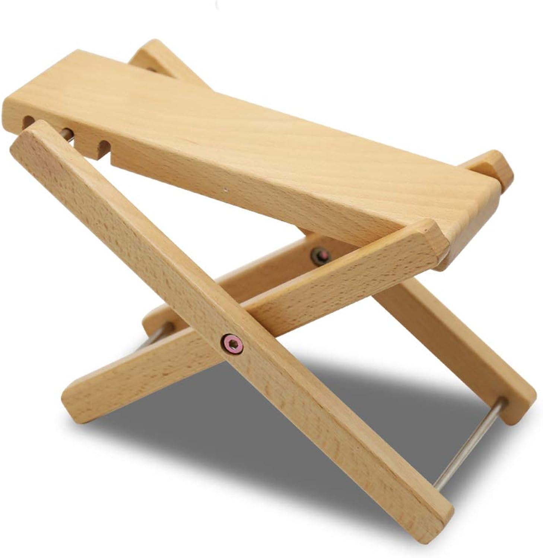 Adjustable Guitar Foot Stool,Folding Foot Rest Footstool Bench with 3 Adjustable Handicraft Antiskid Folding Wood Footstool Pedal-B 23x68cm(9x27inch)