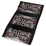 Alice-Coopers Rave Bandana para hombres y mujeres, polaina para el cuello, bufanda, polvo, viento, pasamontañas