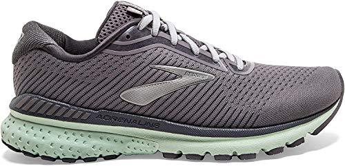 Brooks Womens Adrenaline GTS 20 Running Shoe - Shark/Pearl/Mint - B - 8.5