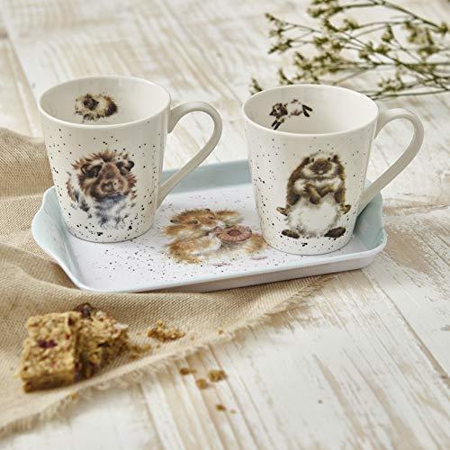 Wrendale Diet Starts Tomorrow - Juego de tazas y bandejas (2 tazas)