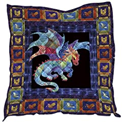 【Beautiful and Creative Design】Beautiful and Creative Pattern. Decorate Your Home and Travel; Especially for Dragon Lovers; 【Multiple Functions】Its Lightweight Quilt Blanket.Suitable for Sll Seasons Bedding. Can be Used as Throw Blanket for Bed and C...
