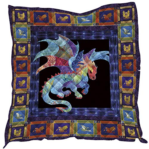 YunTu 3D Printed Dragon Camp King Quilt Queen Quilts Kids Size Quilted Placemats Quilted Throw Blanket Outdoor Picnic Beach Camping Mat Sleeping Mattress Warm Travel Blanket