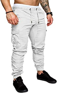 Mens Sweatpants, F_Gotal Men's Casual Plain Drawstring Elastic Waist Solid Baggy Sports Running Jogger Pants Trouser