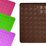 Lumaland Cuisine formschöne Silikon Backmatte für Macarons Kekse 30x40 cm robust rutschfest im Backofen bis 230 °C braun