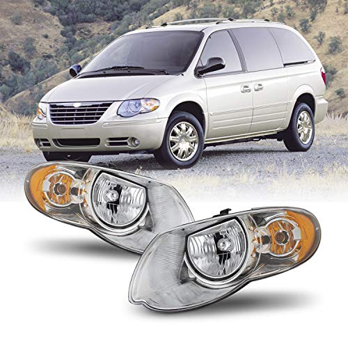 [AKKON] OE Style Headlights Housing Crystal For 2005-2007 Chrysler Town & Country Pair Assembly