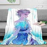 QIAOQIAOLO Manta de otoño Elsa Frozen como regalo para camping, viajes, tamaño L 50 x 60 pulgadas...