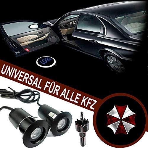 FOLGEMIR Autotür Logo Licht, 12V LED Projektor, Ghost Shadow Willkommen Einstiegsbeleuchtung, 5th Gen. Geist Schatten Lampe, universal for Alle KFZ
