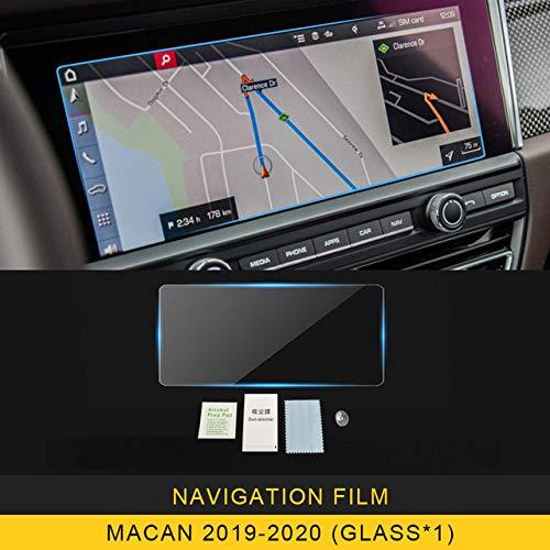 OIOBOMBG Für Porsche Macan 95B 2014-2020, Auto Car Navigation GPS-Monitor Bildschirmschutz aus gehärtetem Glas Filmaufkleber Zubehör Navigation Schutzfolie