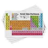 ABAKUHAUS Tabla periódica Salvamantel Set de 4 Unidades, Los Amantes de la química, Material Lavable Estampado Decoración de Mesa Cocina, Multicolor