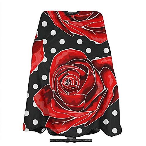 Robe De Coupe De Cheveux Rose Floral Polka Dots Mode Unisexe Coiffeur Tabliers Coupe Coupe De Cheveux Tabliers Professionnel Barbier Cape Salon Cheveux Styling 140X168 Cm
