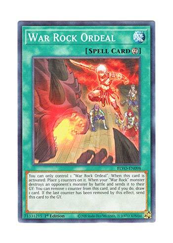 遊戯王 英語版 BLVO-EN098 War Rock Ordeal (ノーマル) 1st Edition