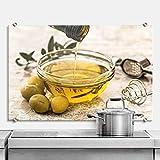 Protección contra salpicaduras aceite de oliva olivo Cocina Cocinar designersgroup Cristal Mediterran de Wall Art