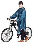 【2021年最新版】レインコートEmoily メンズ レインポンチョ 自転車 バイク用 ロング レインウェア ポンチョ 多機能 雨具 完全防水 防風 耐久性 耳部分に穴設計 通学 通勤に対応 アウトドア 男女兼用 軽量 収納袋付き