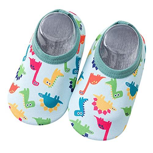 Zapatos de playa para niños y bebés, zapatos de baño, zapatos de agua, zapatos de secado rápido, antideslizantes, zapatos para niños, para la playa o la piscina, color Verde, talla 28.5 EU
